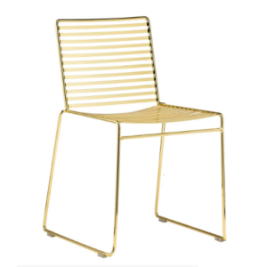 Modern replica gold wire dining chair