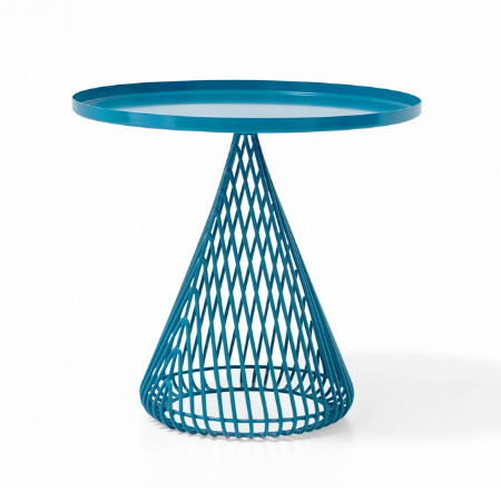 Metal wire teal powder coated coffee table