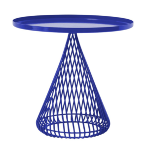 Metal wire blue powder coated coffee table