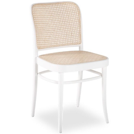 Modern design Wooden Cane Chair in White for wholesale