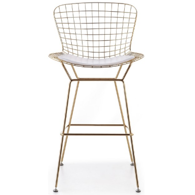 Metal Arrow Wire Bar Stool - Gold electroplated