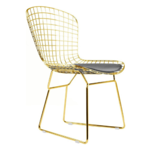 Harry Bertoia Wire Chair in gold