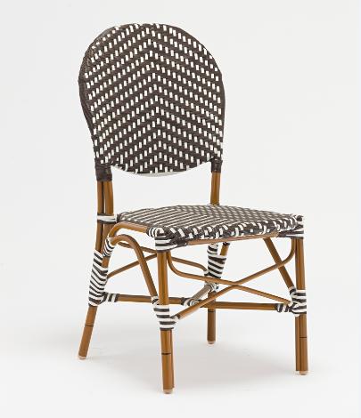 Outdoor bamboo rattan restaurant chair