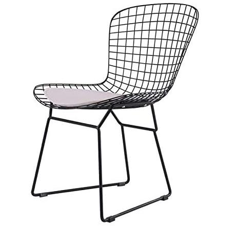 Black powder coated classical replica wire chair