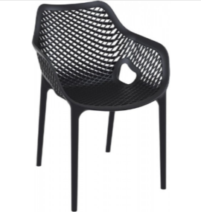 Stackable seating black plastic chair