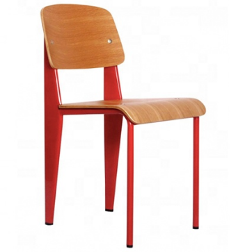 Modern Plywood Seat and Back Replica Jean Prouve Standard Dining Chair