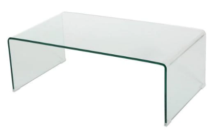 Clear Medium Rectangle Tempered Glass Coffee Table