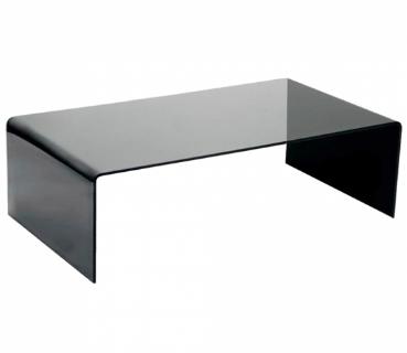 Grey Bent Glass Coffee Table