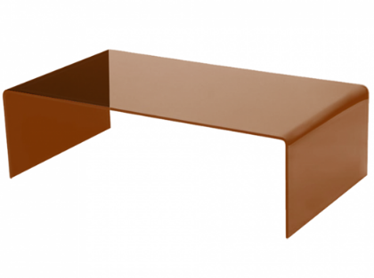 Bronze Hot Bent Glass Coffee Table