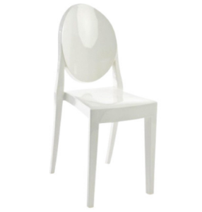 Matte Glossy Acrylic White Victoria Ghost Chair