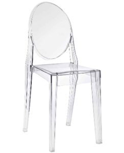 """Clear Acrylic """"Victoria"""" Ghost Chair"""