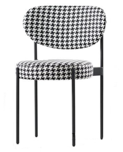 Commercial furniture metal legs linen fabric dining chair
