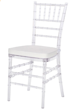 Clear Resin Chiavari Chair for party rental - Stack