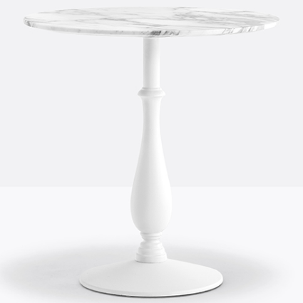 Black Round Marble Top Dining Table