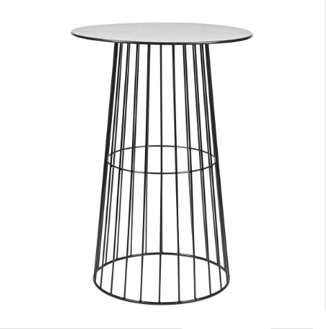 Black wire Cocktail bar table