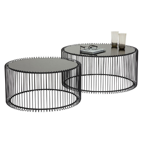 Metal Wire Coffee Table Set