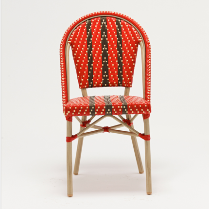 Wicker rattan cafe chair for wholesale