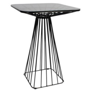 Metal wire black powder coated square bar table