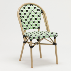 French style bamboo look bistro rattan dining chair