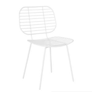 White arrow wire restaurant dining chair