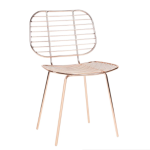Wholesale Copper Wire Dining Chair
