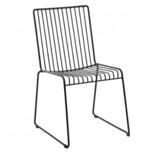 Black arrow wire cafe chair