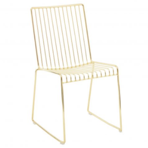 Harry bertoia chair gold wire chair