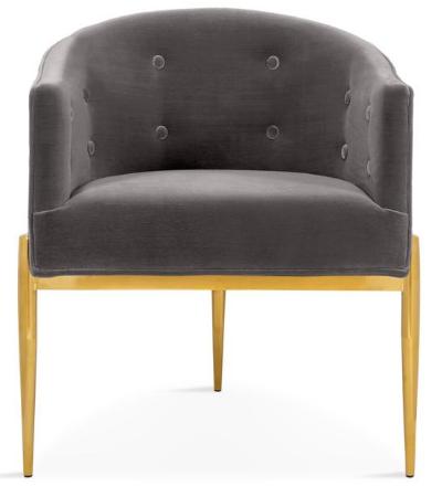 Gold stainless steel legs velvet dining chair