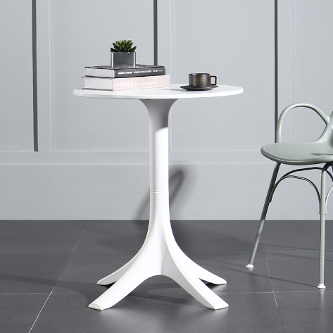 Outdoor white PP cafe table