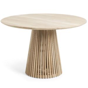 Teak wood round dining table