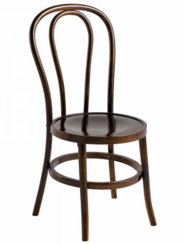 Bentwood walnut stackable thonet cafe chair