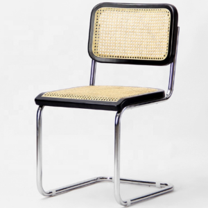 Stainless steel legs cane dining chair