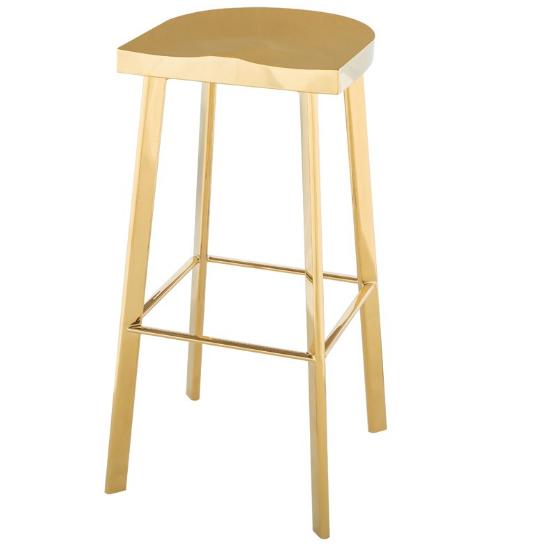 Polish gold stainless steel bar stool