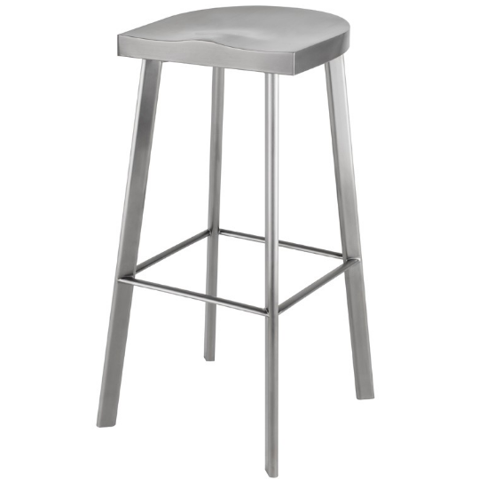 Brush stainless steel bar stool for wholesale