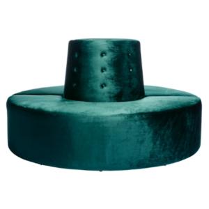 Emerald green Velvet Donut ottoman(2 half)