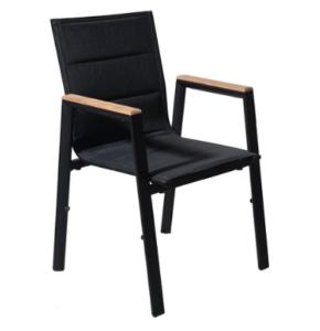 Stackable garden chair Aluminium Textilene Fabric Outdoor Chair