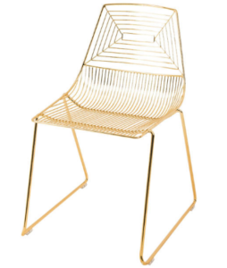 Classic Gold Wire Dining Chair