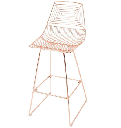 Classic design Gold Wire Bar Chair