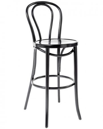 Black thonet bentwood bar stool