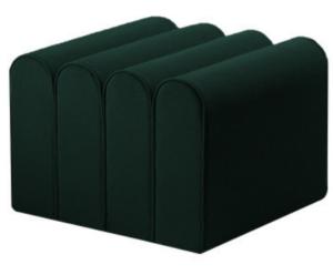 Dark green velvet pouf seat ottoman stool