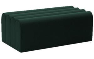Dark green velvet pouf seat rectange ottoman stool