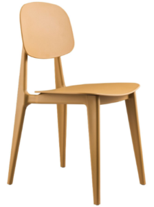 Colorful stackable plastic dining chair