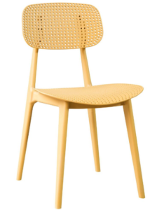 Stackable Plastic chair in yellow