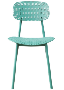 Green stackable PP chair