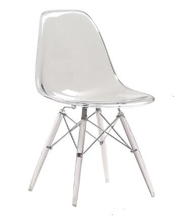 Clear Transparent Acrylic Eiffel-Style Chair