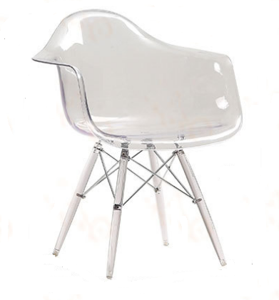 Allure Series Clear Transparent Acrylic Side Chair
