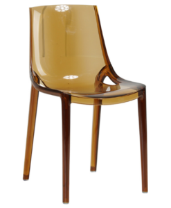 Amber yellow stackable acrylic chair