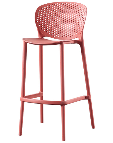 Wholesale Eco-friendly pink stackable barstool chair