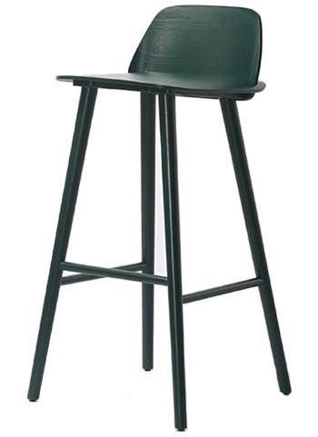 Black solid wood barstool chair