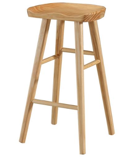 Natural ash wood bar stool for bar